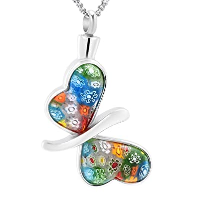 Amazon diyjewelry inc butterfly cremation necklace ashes urn diyjewelry inc butterfly cremation necklace ashes urn pendant memorial keepsake jewelry colorful mozeypictures Image collections