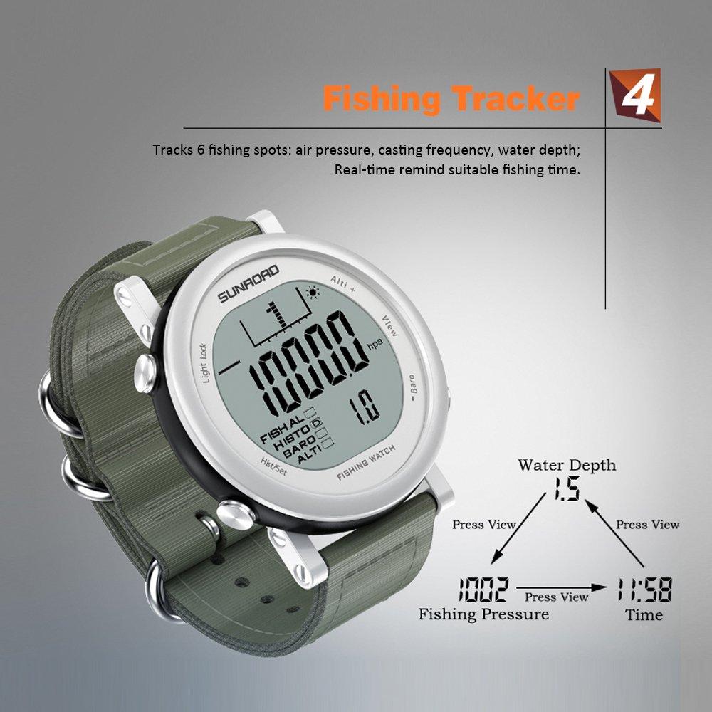 Lixada SUNROAD Pesca Barómetro Reloj Digital Deportes Reloj Pronóstico del Tiempo Termómetro Altímetro: Amazon.es: Deportes y aire libre