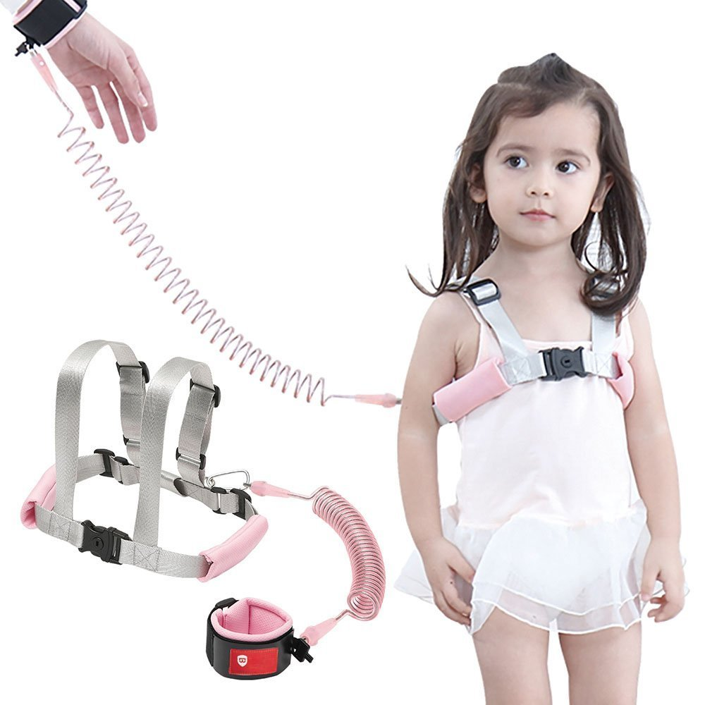 Safety Harness for Kids Anti Lost Wrist Link for Toddlers Toddler Harness Safety Leashes Green Baby Harness for Walking