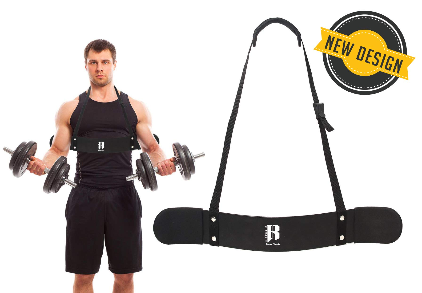 Arm Blaster For Biceps Support - Arm Blaster Bicep Curl with Thick Gauge Aluminum - Add-On To Your Gym Supplies For Biceps Isolator or Preacher Curl - Bicep Curl Bar For Bodybuilders and Weightlifters