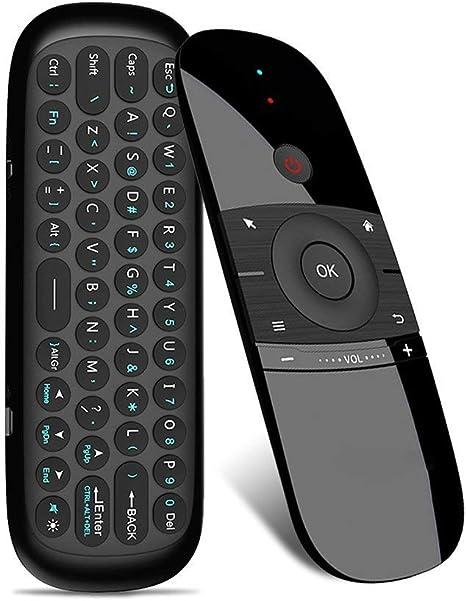 Air Mouse con teclado,Linstar 2.4G Mini inalámbrico de doble cara teclado de control remoto y ratón de aire para TV Box,2.4G Motion Smart TV Android Box de TV Mini Keyboard para Android