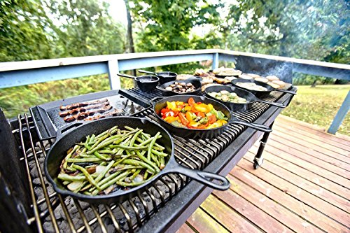 Lodge L9OG3 Cast Iron Round Griddle, Pre-Seasoned, 10.5-inch (Cast Iron Grill Pan Lodge compare prices)