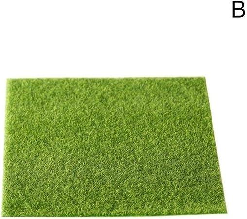 GeWu888 Natural Césped Artificial 4PCS Micro Paisaje del Acuario decoración no tóxica no Tejido de Tela Césped Artificial Mini Jardín Prop para Jardines (Color : 30x30cm): Amazon.es: Hogar