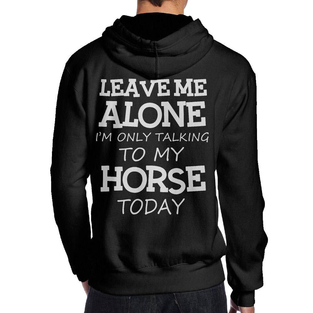 JHDKDGH-N Im Only Talking to My Horse Back Print Long-Sleeved Hoodie Man