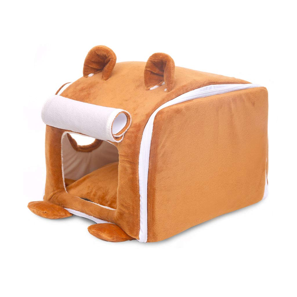 Turmeric 37x50.5x34cmYangMi pet Bed Pet Nest Cute Vertical Ear Pet Nest Cat Litter House Supplies (Colore:Turmeric, Dimensione:37x50.5x34cm)