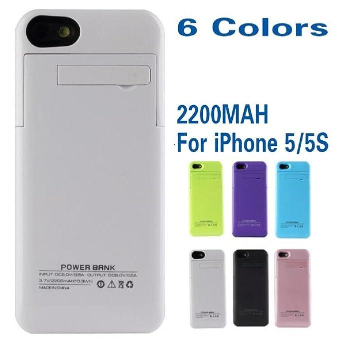 Blanco Funda Cargador portátil externo batería Apple iPhone ...