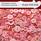 100g **LIGHT PINK** SEWING BUTTONS / ASSORTED SIZES / ARTS CRAFTS / SCRAPBOOK / CARD MAKING
