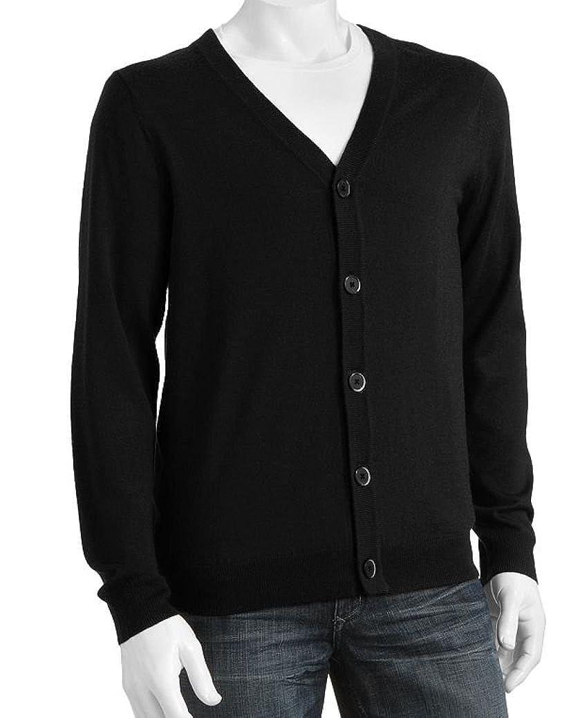 Liz Claiborne Apt 9 Classic Fit Cardigan Sweater Merino Wool Blend Big /& Tall Black
