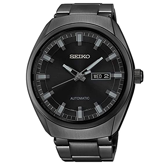 Seiko Watches SNKN43 - Reloj de Pulsera Hombre, Acero Inoxidable, Color Negro: Seiko: Amazon.es: Relojes