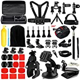 Iextreme Accessories for Gopro 5 4 3, Accessory Bundles with Chest Harness/Suction Cup(48 items)