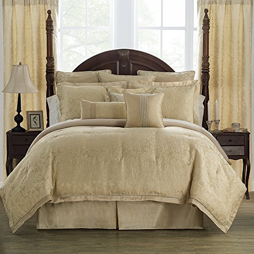 Marquis By Waterford Isabella Comforter Set, King, Gold