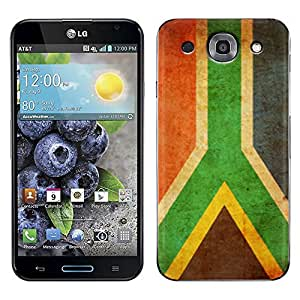 Skin Decal for LG Optimus G PRO - SouthAfrica Vintage Flag