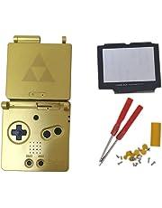 Meijunter Remplacement Logement boîtier Housse Housing Shell Case Cover pièces de rechange avec Lentille de verre & Tournevis pour Nintendo Gameboy Advance SP GBA SP Console (édition limitée)