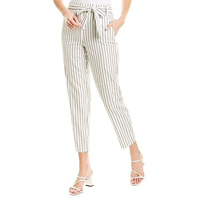 1.State Women's Striped Tie Waist Tapered Leg Pants at Women's Clothing store