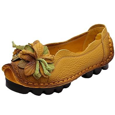Slip Et On Sacs Femme Vogstyle Fleur En Cuir Chaussures UIwUB0