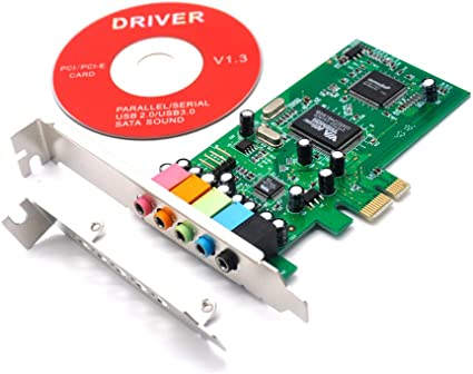 3D Stereo PCI-e Audio Card QNINE PCIe Sound Card for PC Windows 10 PCI Express Desktop Sound Adapter with Low Profile Bracket VIA 1723 Chip 32//64 Bit Sound Card for Windows XP // 7//8