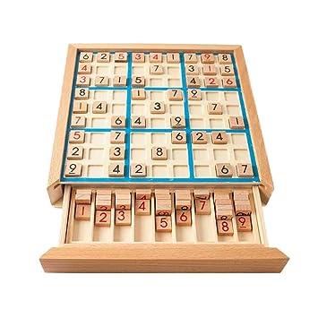 Toyvian Juego de Mesa de Madera Sudoku Juego de Rompecabezas Juego ...