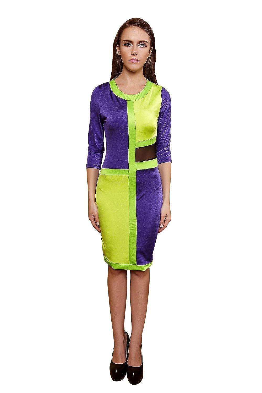 YiYiFS® Frauen schließen Nachtwäsche Nachtclub über Knie Ärmelloses Kleid ED110
