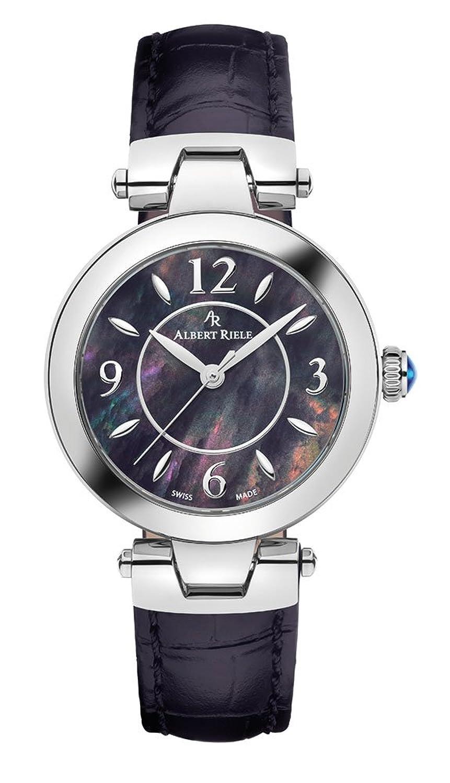 Albert Riele Damen Armbanduhr GALA Analog Quarz Lederarmband schwarz 125LQ16-SS11M-LB