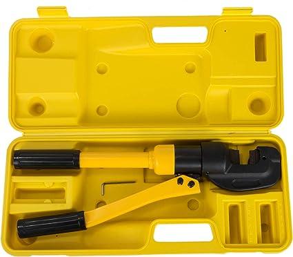 Succebuy 4 16mm Pince Hydraulique Manuel Coffret De Outil à Main De Sertissage Presse à Sertir Hydraulique Amazon Fr Bricolage