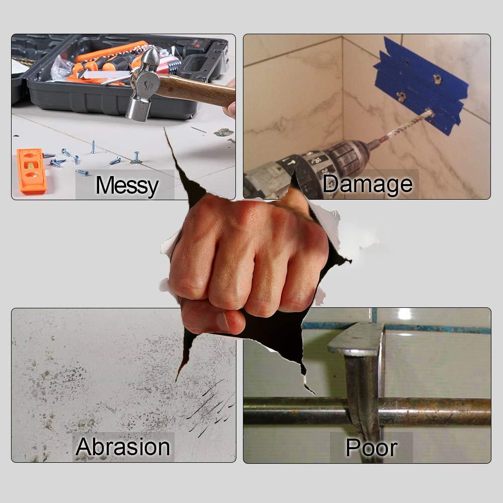 Chrome Toilet Roll Holder, ONEZERO® 3M Self Adhesive Lavatory Paper Roll Holder, Wall Mounted Bathroom Kitchen Roll Holder