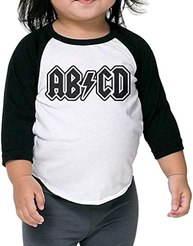 ABCD Funny Uniforms, Camiseta Negra Linda para niños, Cuello Redondo, Manga raglán, 1/2 Camiseta: Amazon.es: Ropa y accesorios