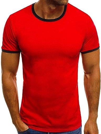 STRIR Verano Camiseta de Manga Corta para Hombre tee Shirt Camiseta Slim Fit Pullover Top Blusa: Amazon.es: Ropa y accesorios