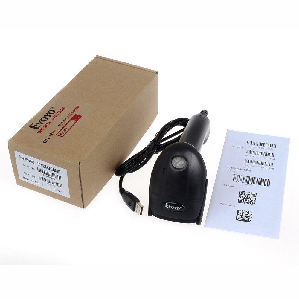 Eyoyo 2D portátil con cable USB / QR Barcode Scanner lector de código de barras CCD Para el pago escáner móvil de la pantalla del ordenador: Amazon.es: ...