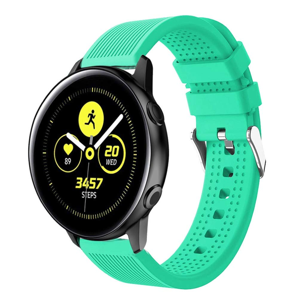 Digood for Samsung Strap, Replacement Sport Soft Silicone Band Smart Watch Band for Samsung Galaxy Watch Active (Mint Green)