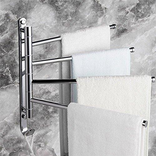 Leyden TM Wall-Mounted Solid Brass Bathroom Kitchen Towel Ra