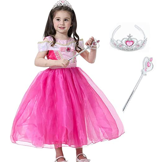 Princesa Bella Cenicienta Aurora Fancy Dress para niñas ...
