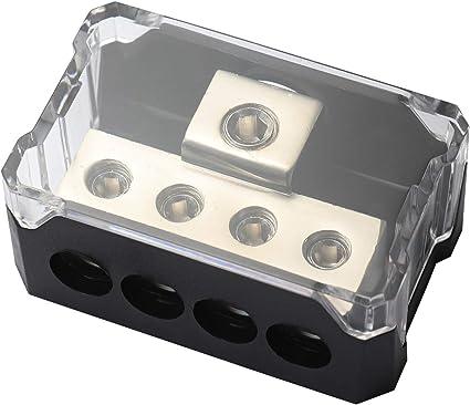 IMC AUDIO 4 GAUGE TO 4 X 8 GAUGE POWER GROUND DISTRIBUTION BLOCK