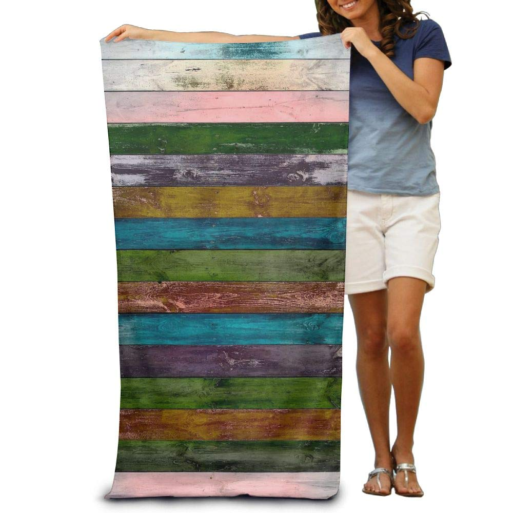 Yisliferunaz Rainbow Wood Texture Beach Towels Luxurious 100% Polyester Swim Bath Sheets Large Towel for Beach Blanket Cover Tent Floor Yoga Mat 31.5'' X 51.2'',Natural Soft Quick Dry