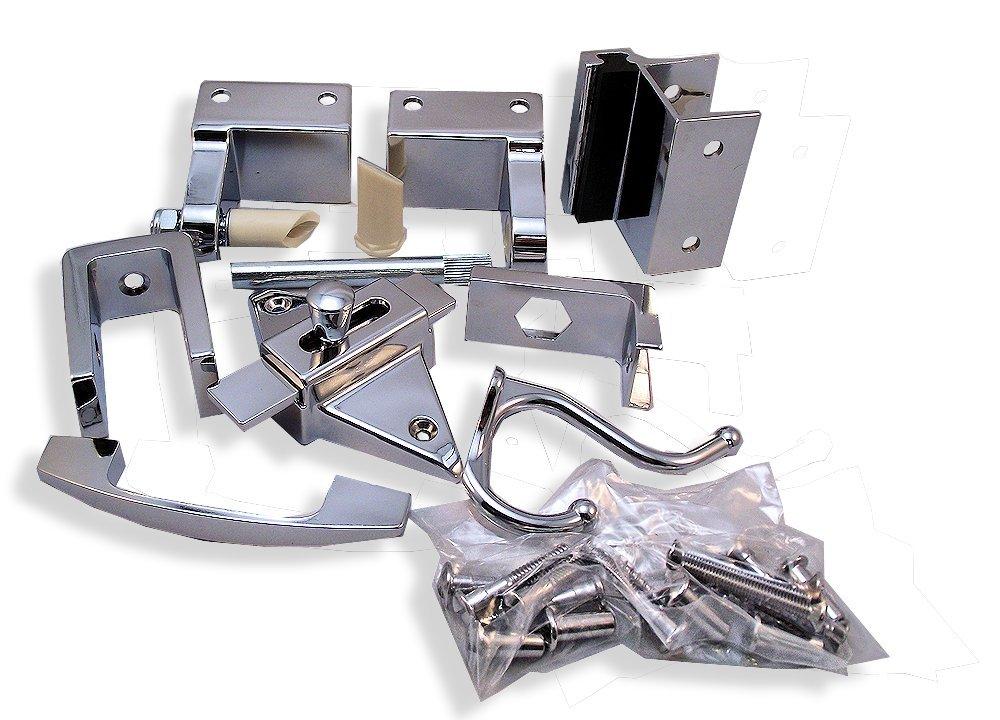 Outswing Door Hardware Repair Pak - for 7/8'' Restroom Partition Door & 1-1/4'' Pilaster