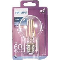 Philips LED Classic 60W A60 Filament Ampul, 6500 Beyaz Işık, E27 Normal Duy, Dim Edilmez