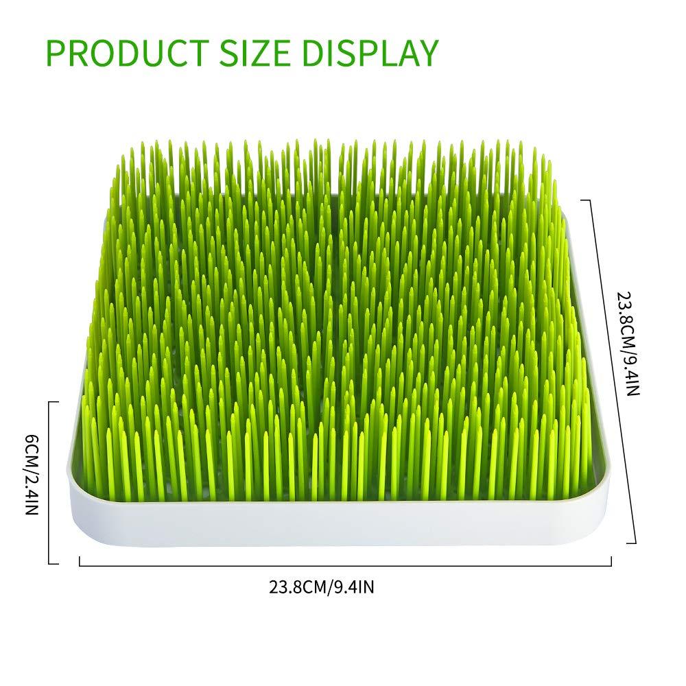 Soraco Beb/é Botella Estante para Platos de escurridor para c/ésped Grande Hierba encimera Verde