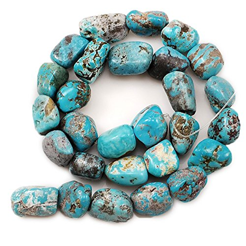 01 Blue Hubei Turquoise Nugget 11x11x9mm-15x11x10mm for Necklace Gemstone Loose Beads 15