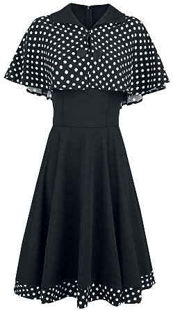 Belsira Cape Mittellanges Schwarz Mit Kleid Swing NPmn0Oy8wv