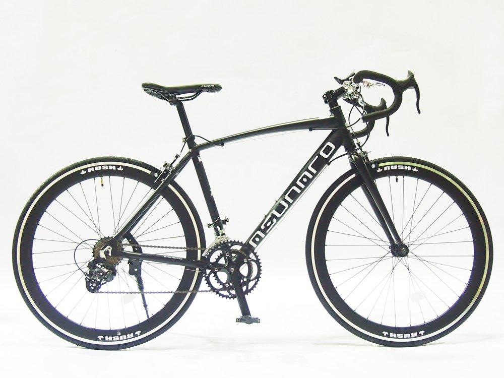 ASUNAROアスナロ 自転車 AN-7014ALS Fennel(フェンネル) ロードバイク 700×23c 100%完成車 B073QPLHV6 マットブラック マットブラック