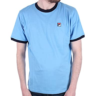 e8741ec5cf92 Fila Mens marconi Lake Blue Crew Neck T Shirt - L: Amazon.co.uk: Clothing