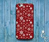 *BoutiqueHouse* iPhone 4 4s 5 5s 5c SE 6 6s plus iPod Touch 4th 5th 6th Generation Cute Red Snowflake Gift Merry Christmas Stars Present Happy Holiday Case(iPhone 6/6S)