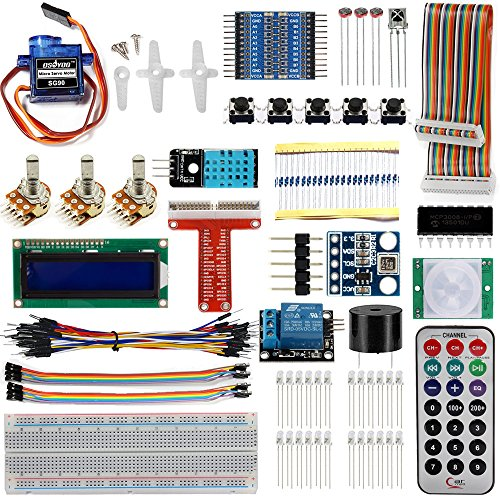 Diy electronic kits amazon osoyoo raspberry pi 3 diy starter learning lab kit for beginners 20 items solutioingenieria Images