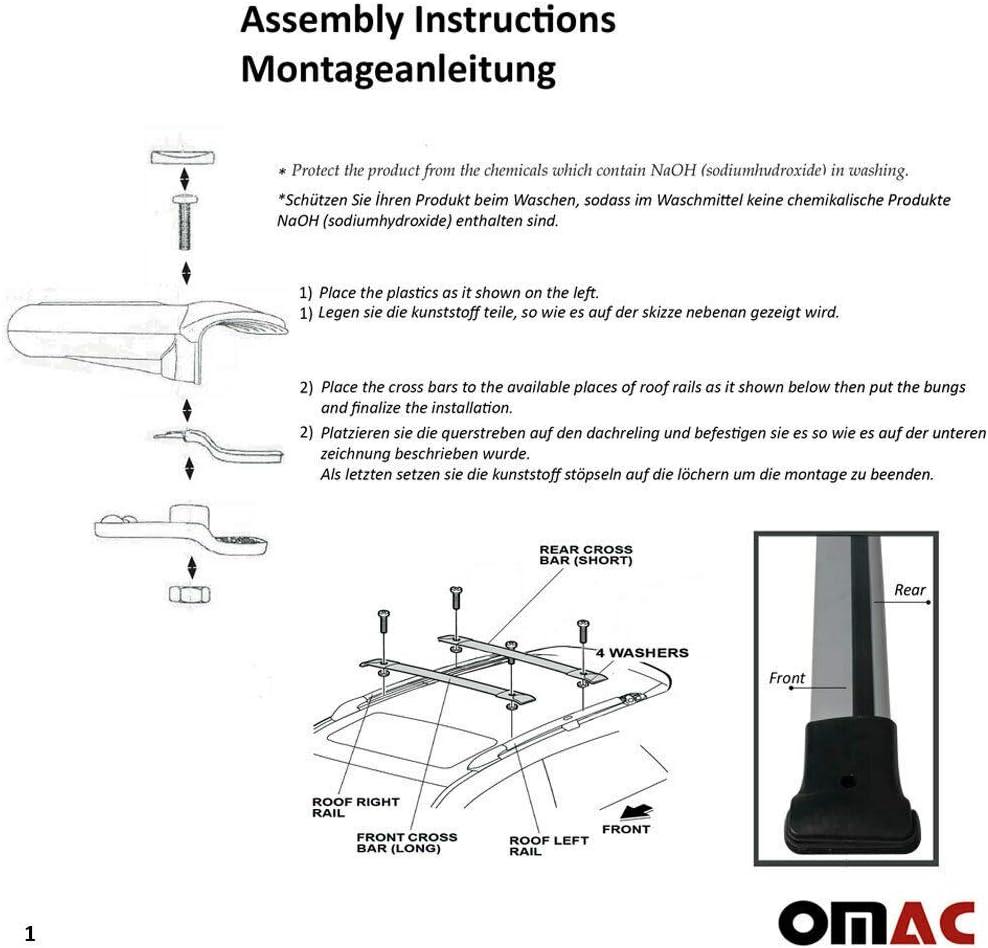 Omac Gmbh Aluminium Grau Dachträger Dachgepäckablage Relingträger Für Dokker 2012 2020 Dachgepäckträger Mit TÜv Abe Auto