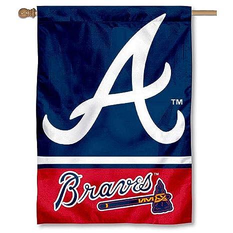 Amazon WinCraft Atlanta Braves Two Sided House Flag Sports