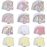 Star Stickers 6440 Count Colorful Self-adhesive Stickers, 120 Sheets