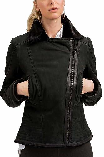 trueprodigy Casual Mujer marca Chaqueta De Cuero basico ropa retro vintage rock vestir moda deportiv...