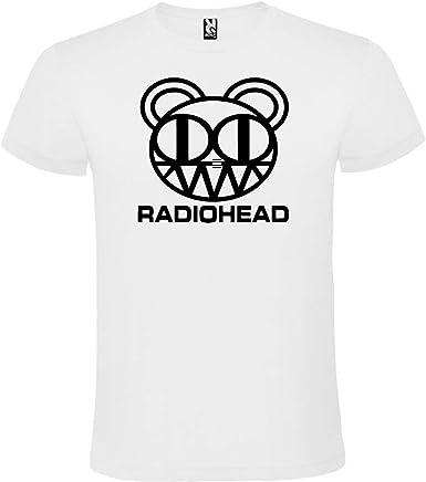 ROLY Camiseta Blanca con Logotipo de Radiohead Hombre 100% Algodón Tallas S M L XL XXL Mangas Cortas: Amazon.es: Ropa y accesorios
