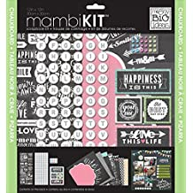 Me and My BIG Ideas SRK-141 Chalkboard Doodle Mambi Scrapbook Kit, 12 by 12-Inch