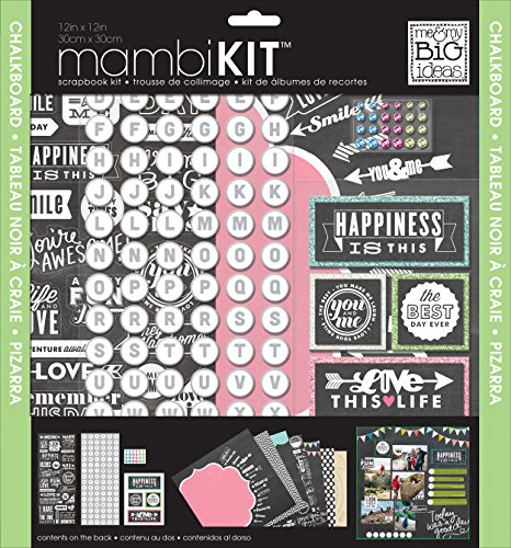 me & my BIG ideas Chalkboard Doodle Mambi Scrapbook Kit, 12 by 12-Inch]()