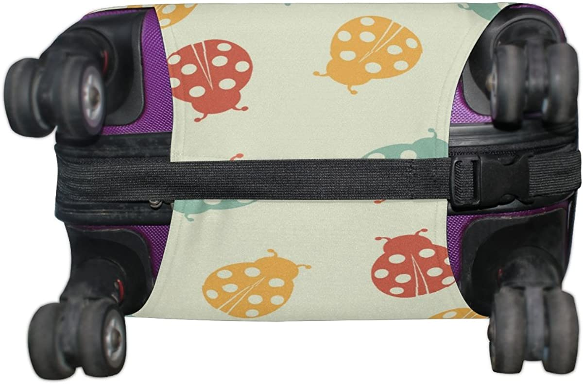 ALAZA Ladybug Butterfly Polyester Luggage Travel Suitcase Cover Case Protector